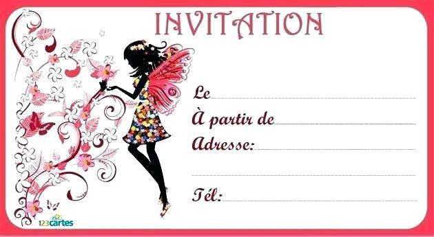 Carte invitation anniversaire 6 ans fille