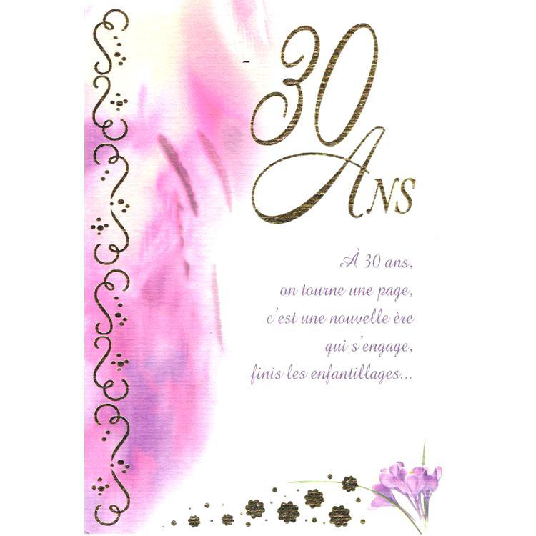 Texte anniversaire 30 ans femme