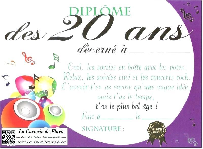 Carte anniversaire gratuit 20 ans