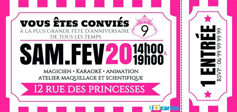 Carte Invitation Anniversaire Boum Gratuite Imprimer Elevagequalitetouraine