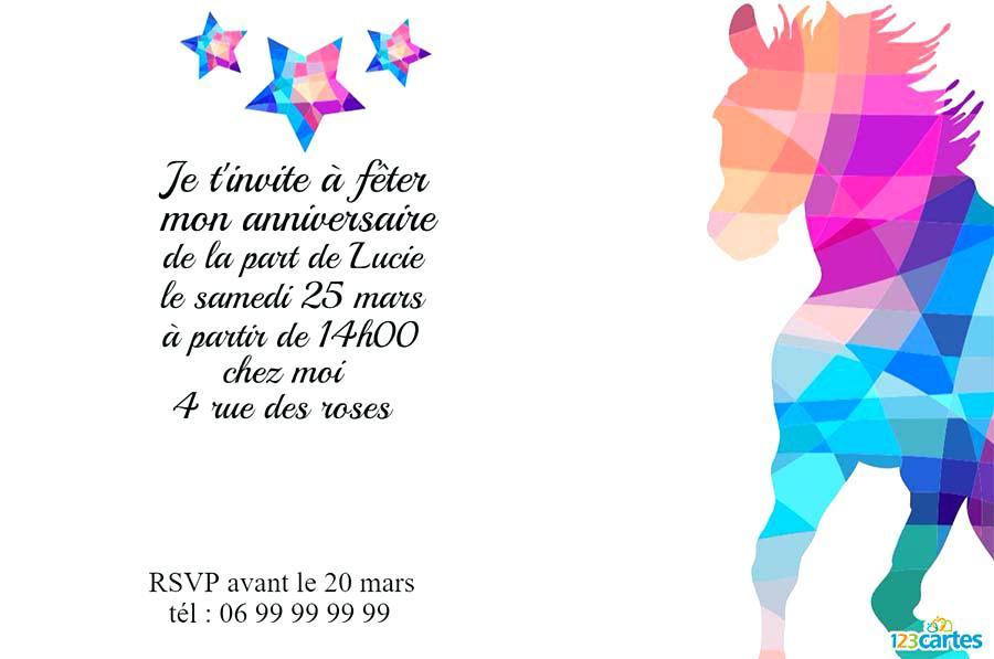 Modele De Texte D Invitation Pour Anniversaire 10 Ans