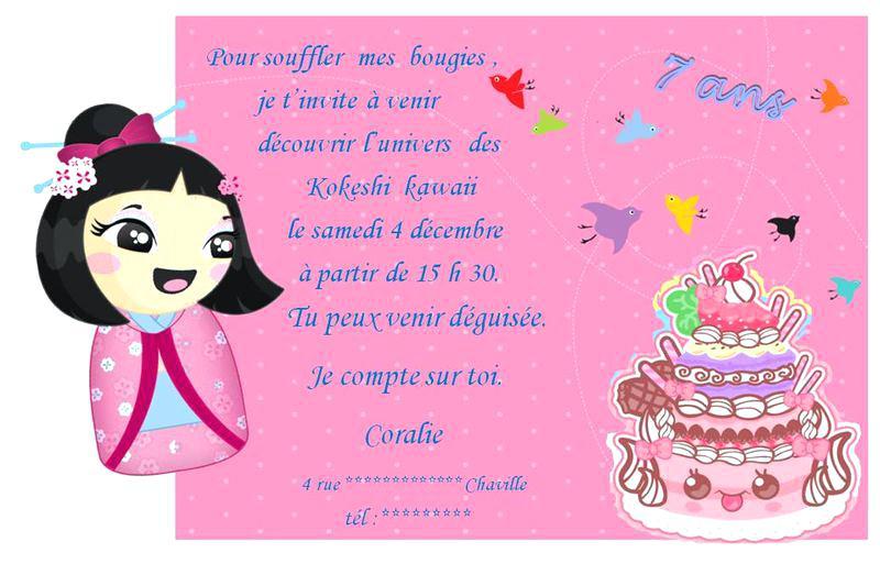 Carte D Invitation Anniversaire 5 Ans Fille Elevagequalitetouraine