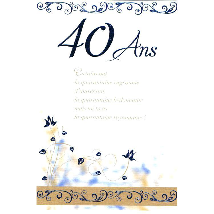 Texte anniversaire 40 ans infirmière