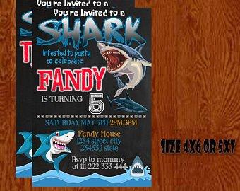 Carte anniversaire requin gratuite