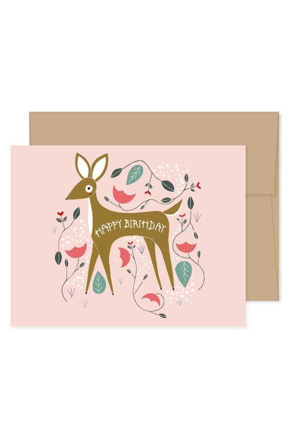 Carte anniversaire cerf