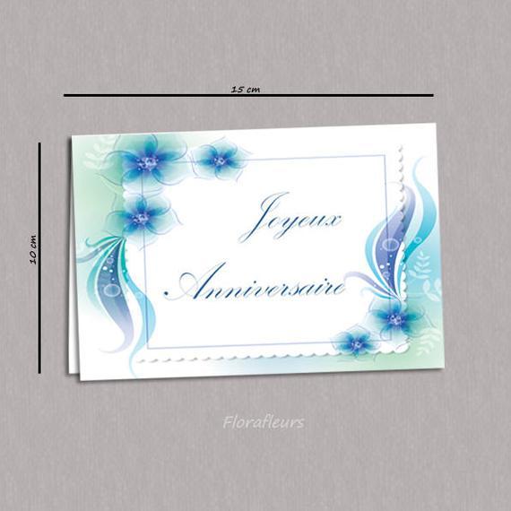 Carte anniversaire bleu