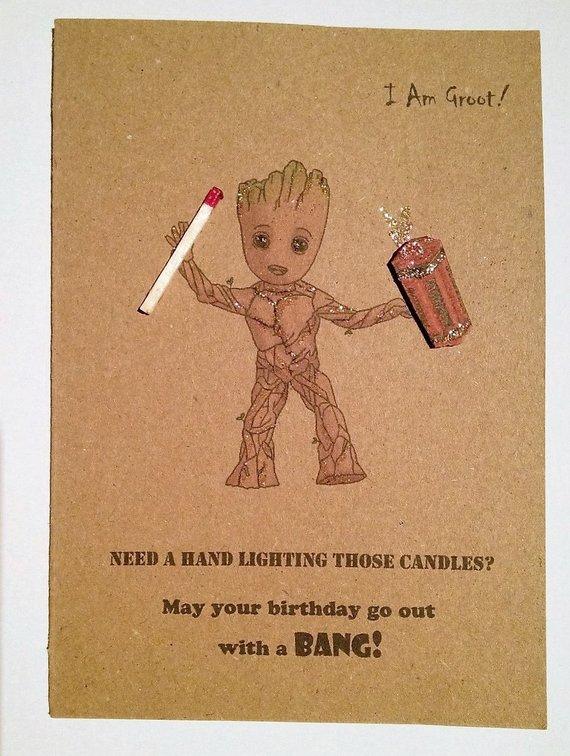 Carte anniversaire baby groot