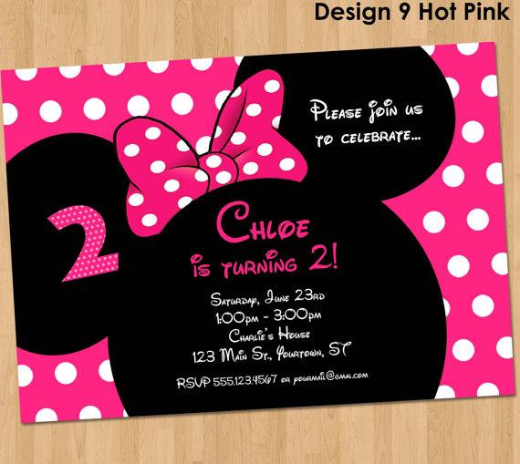 Carte d'invitation anniversaire fille personnalisable