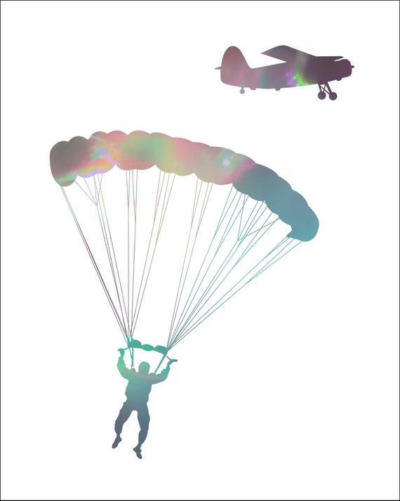 Message anniversaire saut en parachute