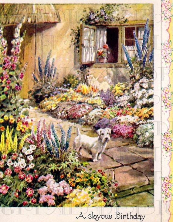 Carte anniversaire jardin