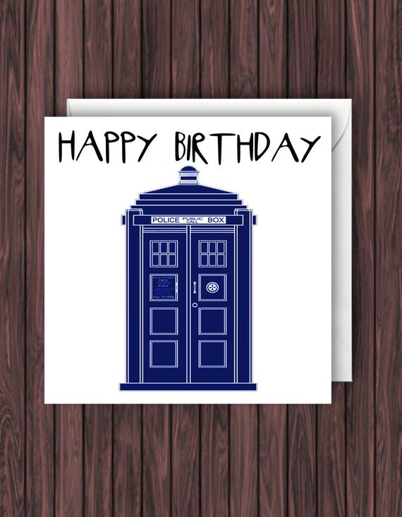 Carte anniversaire docteur who