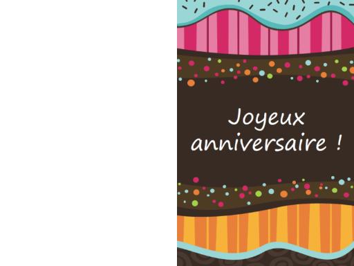 Carte anniversaire word 2007