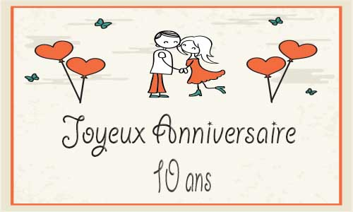 Carte Anniversaire De Mariage 10 Ans Elevagequalitetouraine