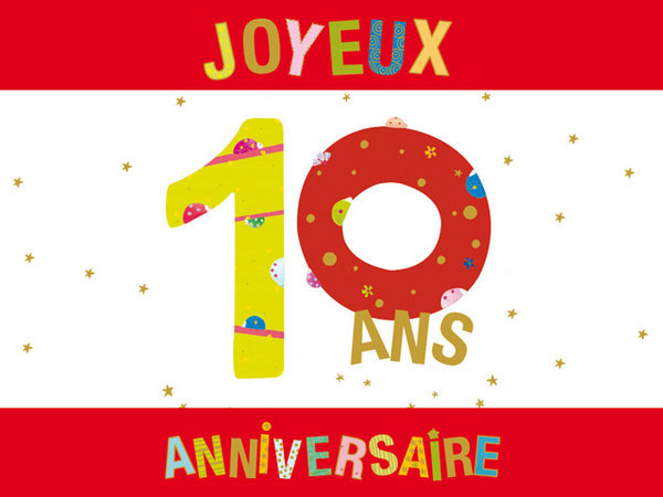 Carte anniversaire virtuelle fille 10 ans