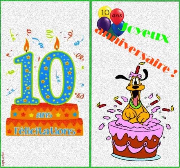 Carte anniversaire virtuelle gratuite 10 ans garcon