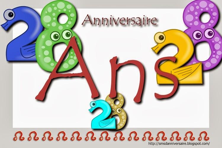 Carte anniversaire 28