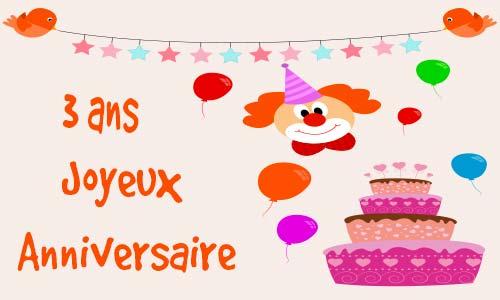 Texte voeux anniversaire 3 ans