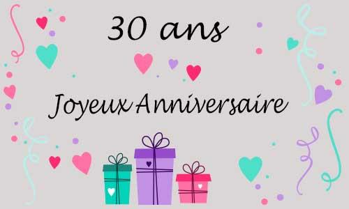 Texte anniversaire amour 30 ans