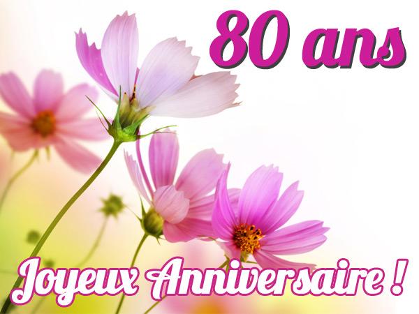 Carte Anniversaire 80 Ans Femme Texte Elevagequalitetouraine