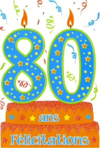 Carte anniversaire maman 80 ans