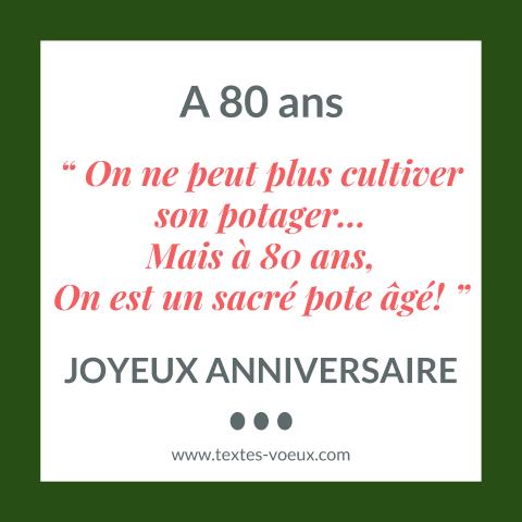 Message pour un anniversaire 80 ans