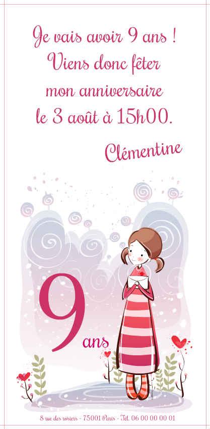 Texte Anniversaire Petite Fille 9 Ans Elevagequalitetouraine