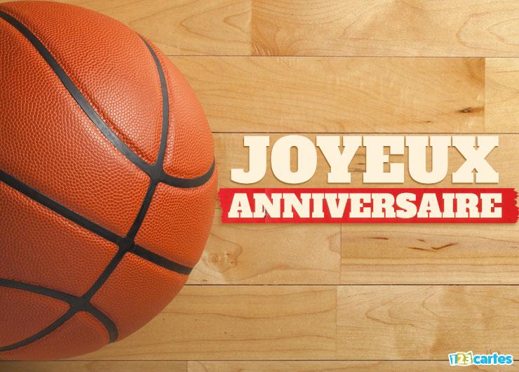 Carte virtuelle anniversaire basket
