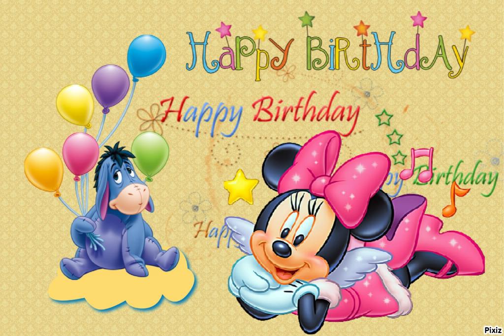Carte Bon Anniversaire Disney Elevagequalitetouraine
