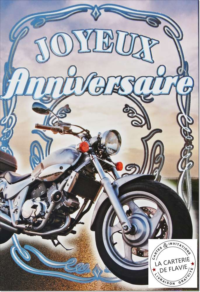 Carte anniversaire 16 ans moto