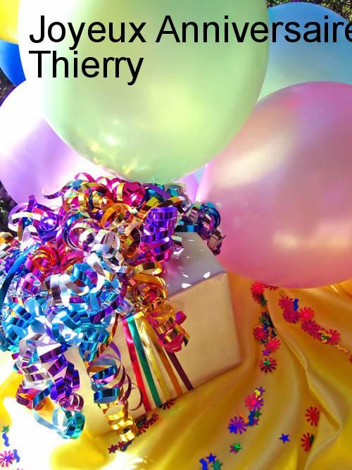 Carte anniversaire avec prenom thierry