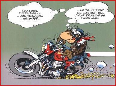 Carte anniversaire animée moto
