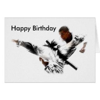 Carte anniversaire taekwondo