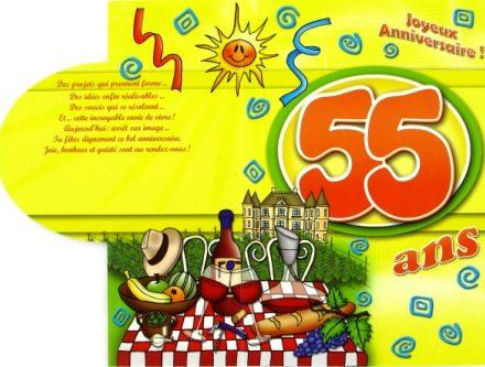 Carte anniversaire 55 ans femme gratuite