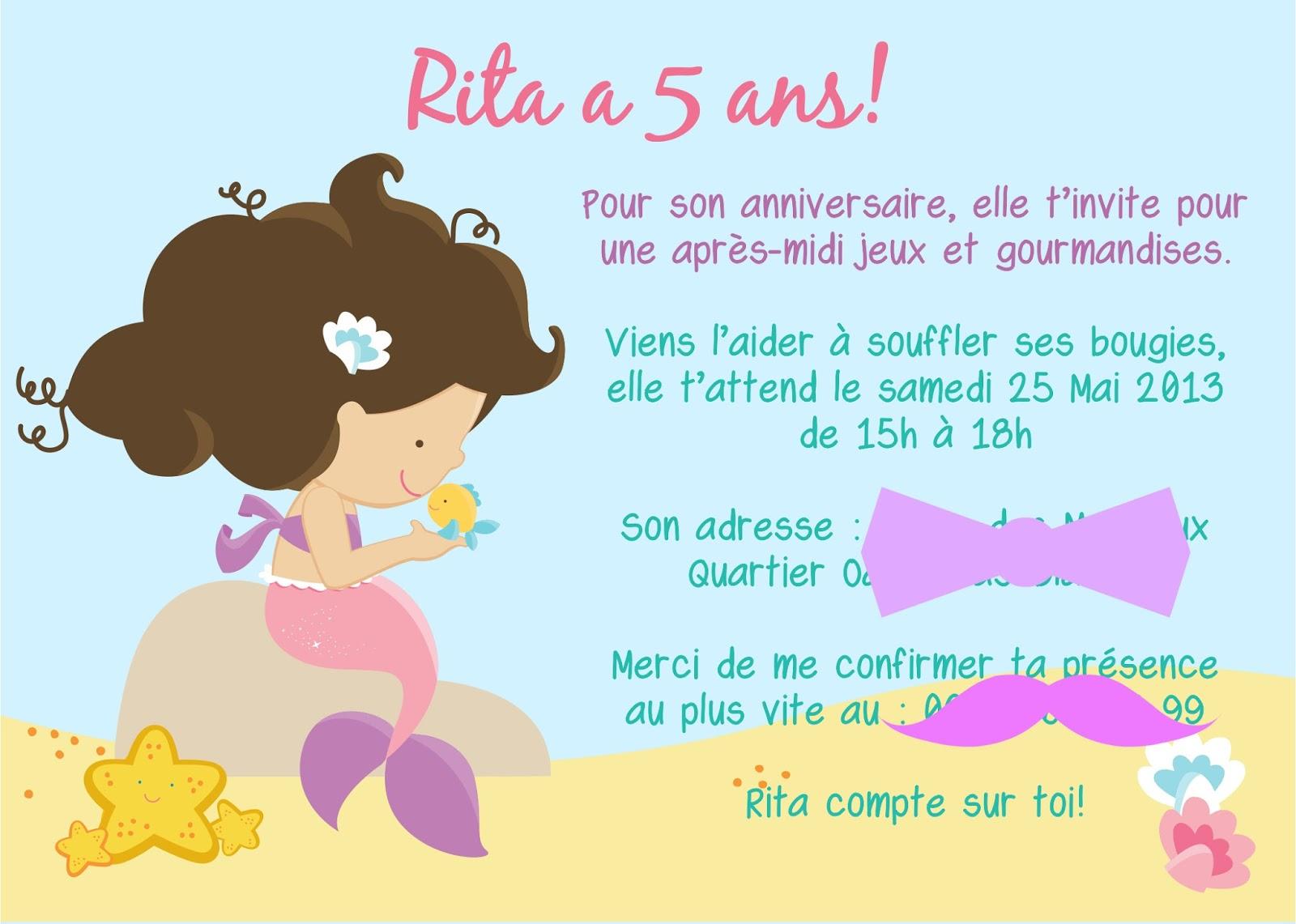 Carte anniversaire fille de 4 ans