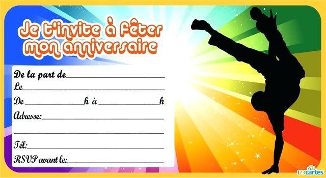 Carte d'invitation anniversaire gratuite à imprimer pour ado fille