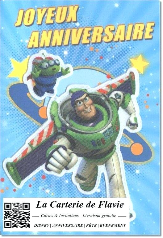 Carte anniversaire toy story