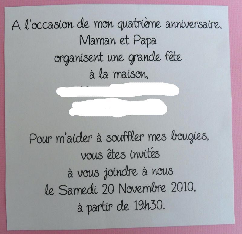Exemple de texte d'invitation pour anniversaire