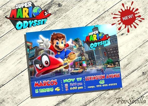 Carte D Invitation Anniversaire Super Mario A Imprimer Elevagequalitetouraine