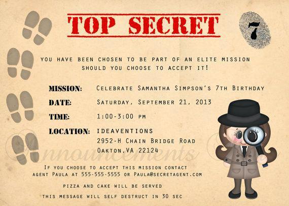 Carte anniversaire detective