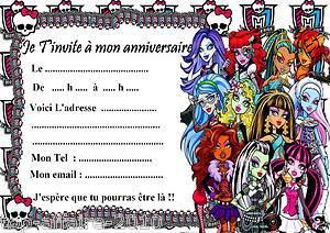 Carte Invitation Anniversaire Monster High A Imprimer Gratuit Elevagequalitetouraine