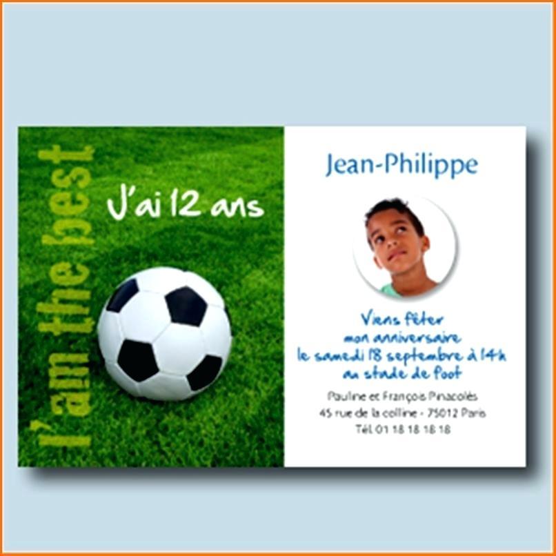 Carte Invitation Anniversaire Gratuite A Imprimer Ado Foot Elevagequalitetouraine