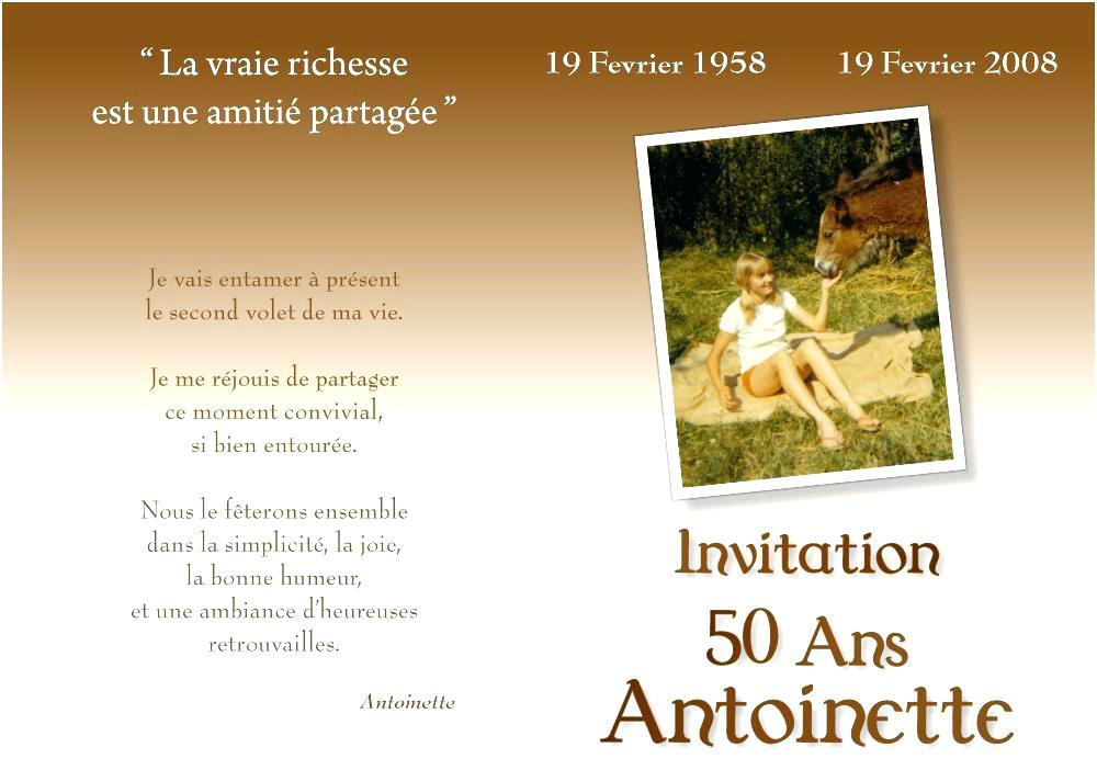 Message simple anniversaire 50 ans