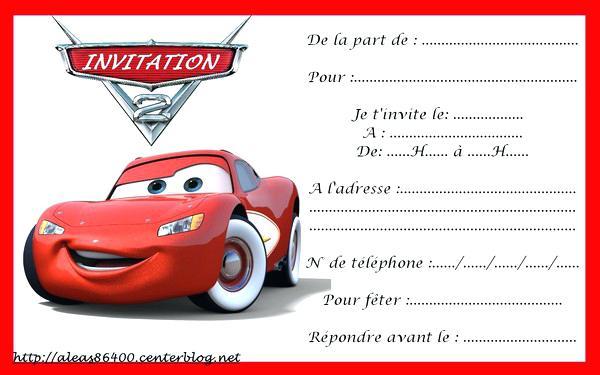 Carte Invitation Anniversaire Cars A Imprimer Gratuite Elevagequalitetouraine