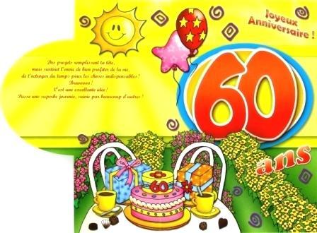 Message anniversaire pour 60 ans femme
