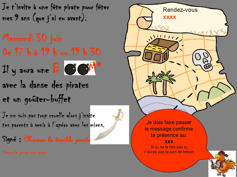 Carte Invitation Anniversaire Chasse Aux Tresors Elevagequalitetouraine