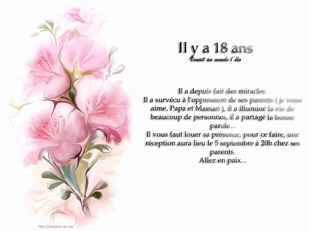 Carte invitation anniversaire gratuite imprimer 18 ans