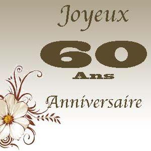 Message sur carte anniversaire 60 ans
