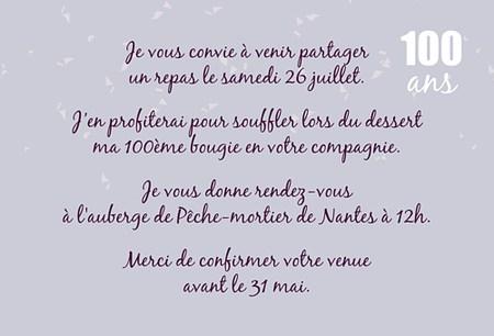 Carte Anniversaire 100 Ans Gratuite A Imprimer Elevagequalitetouraine