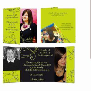 Carte d'invitation anniversaire 20 ans garcon