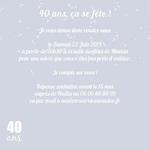 Texte anniversaire 40 ans femmes